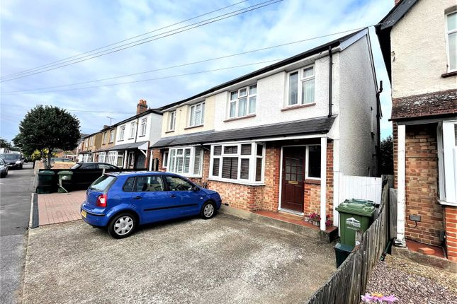 Thumbnail Semi-detached house to rent in Warwick Road, Ashford, Middlesex