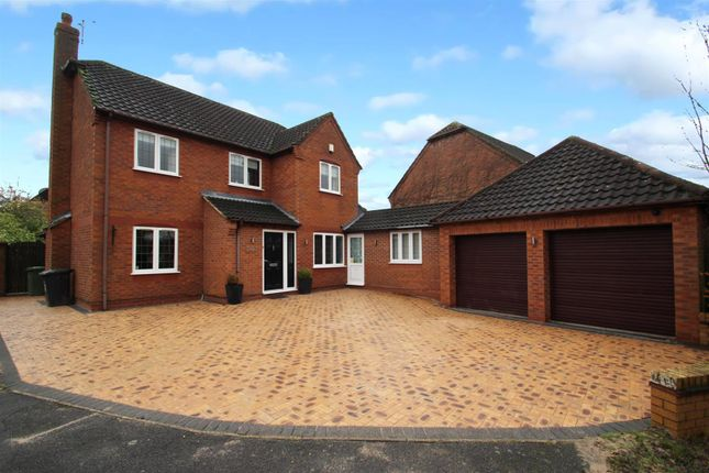 Thumbnail Detached house for sale in Hoppner Close, Leicester