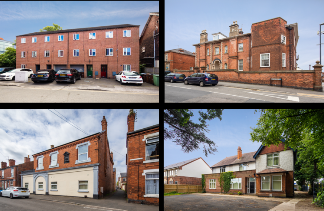 Thumbnail Commercial property for sale in Hmo Residential Investment Portfolio, 1-4 Fletcher Terrace, Nottingham