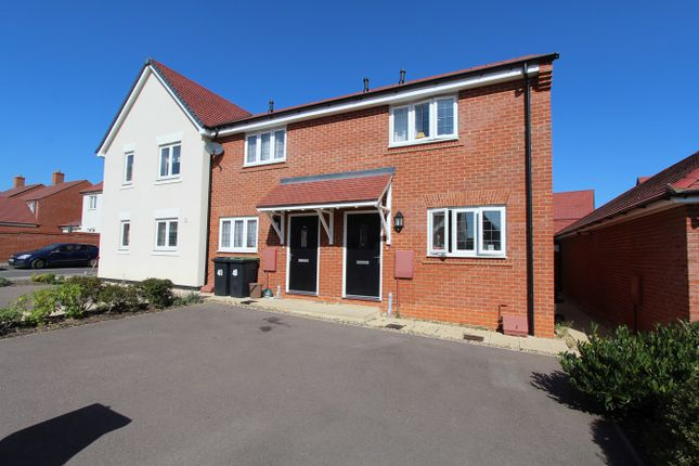Thumbnail End terrace house for sale in Aspen Way, Silsoe, Bedford