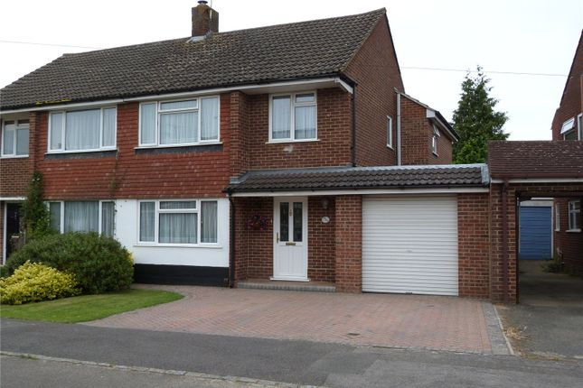 Thumbnail Semi-detached house to rent in Rochester Avenue, Woodley, Reading, Berkshire