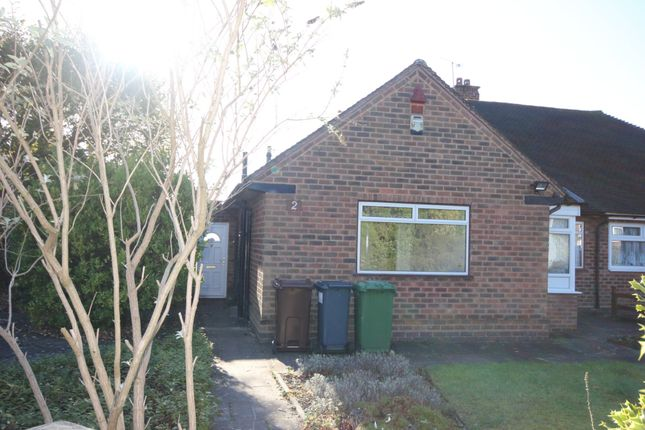 Thumbnail Semi-detached bungalow to rent in Dovedale Avenue, Shirley, Solihull