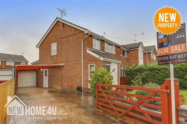 Thumbnail Semi-detached house for sale in Bryn Awelon, Buckley