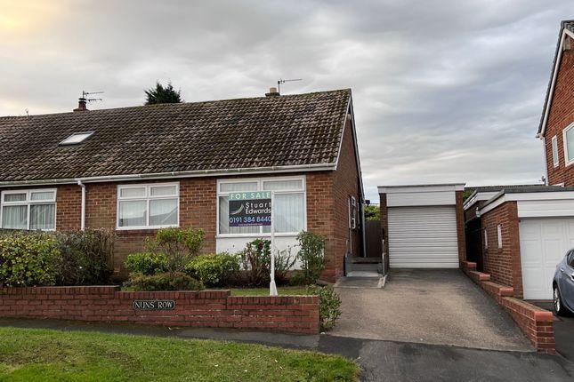 Thumbnail Semi-detached bungalow for sale in Nuns Row, Durham
