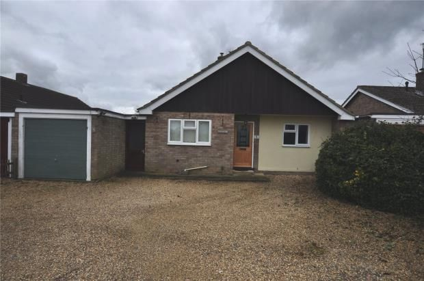 Thumbnail Detached bungalow to rent in Hunts Road, Duxford, Cambridge