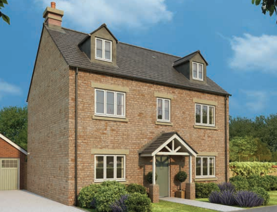 Thumbnail Detached house for sale in Ash Gardens, Burcote Park, Burcote Road, Towcester, Northamptonshire