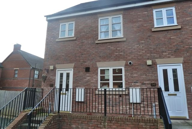 Thumbnail End terrace house to rent in 35 Glendower Court, Greenfields, Shrewsbury