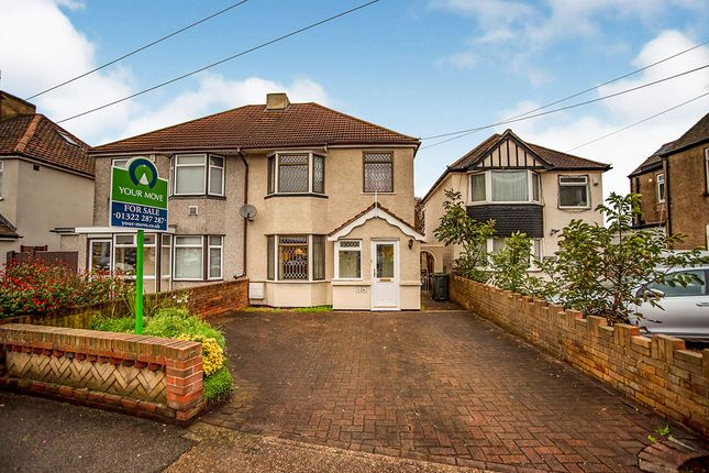 Thumbnail Semi-detached house for sale in The Brent, Dartford, Kent