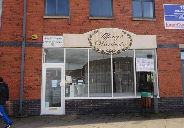 Thumbnail Retail premises to let in Unit A Millennium House, 40 Nantwich Road, Crewe, Cheshire