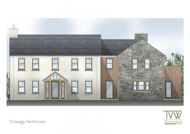 Thumbnail Detached house for sale in Crossag Farmhouse, Crossag Lane, Ramsey