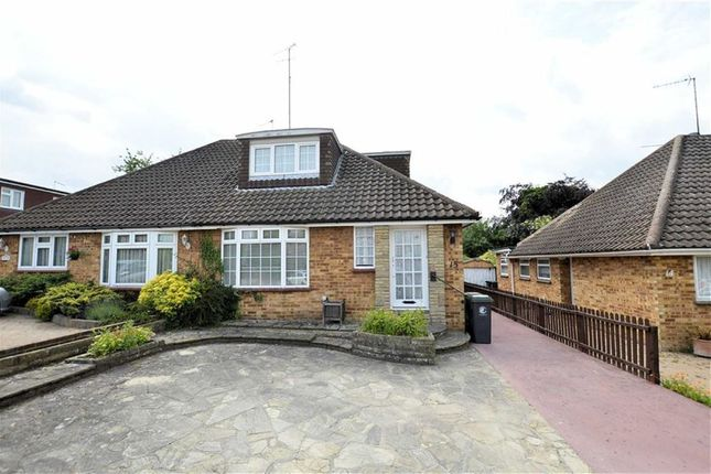 Thumbnail Semi-detached bungalow for sale in Field Close, Abridge, Romford