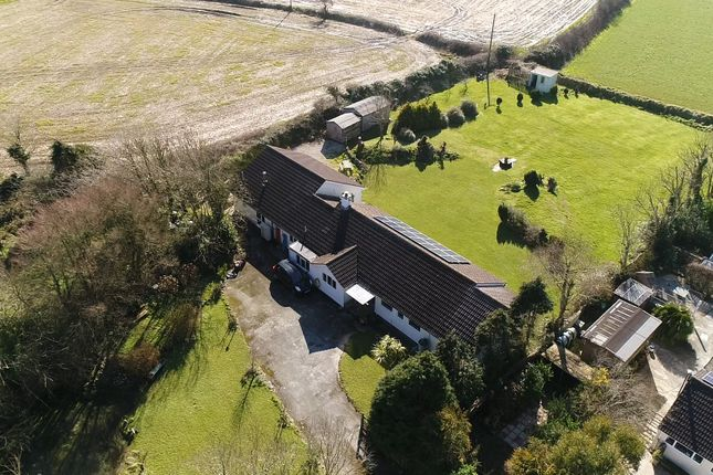 Thumbnail Detached bungalow for sale in Kuggar, Nr. Helston, Cornwall