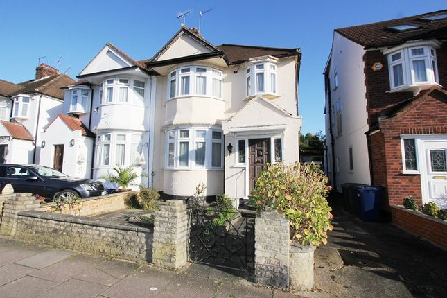 Thumbnail Semi-detached house for sale in Brook Avenue, Edgware, Greater London.