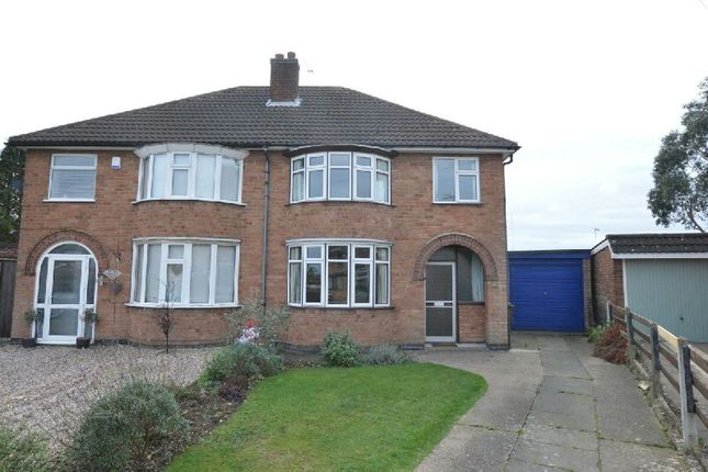 Thumbnail Semi-detached house for sale in Darley Road, Blaby, Leicester