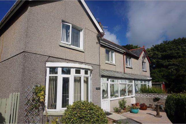 Semi-detached house for sale in Embankment Road, Pwllheli