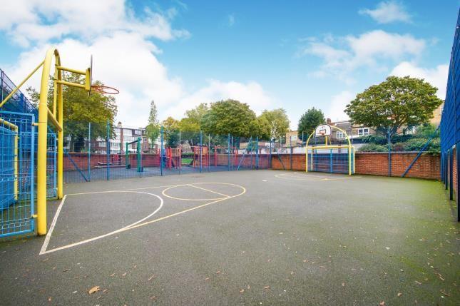 Playground of Nelson Mandela House, 124 Cazenove Road, London, England N16