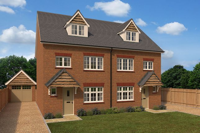 "Thumbnail Semi-detached house for sale in ""Grantham Semi"" at Dry Street, Langdon Hills, Basildon"