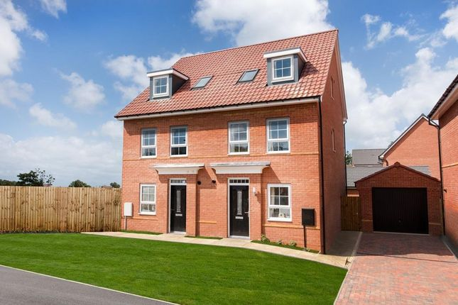 "Thumbnail Semi-detached house for sale in ""Helmsley"" at Bearscroft Lane, London Road, Godmanchester, Huntingdon"