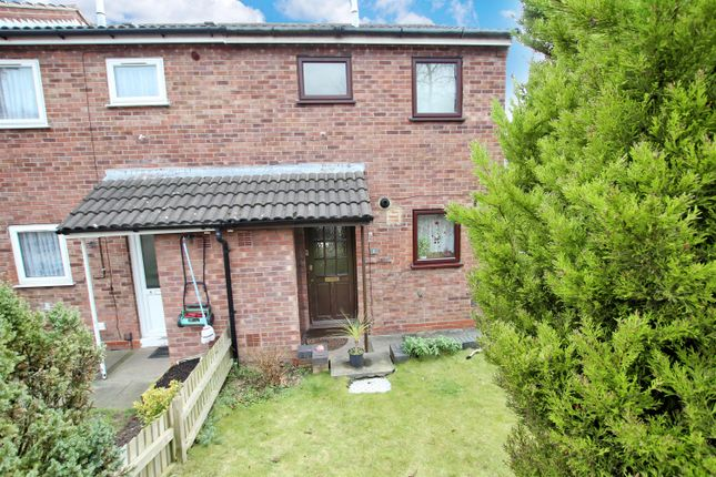 Thumbnail End terrace house to rent in Huins Close, Redditch