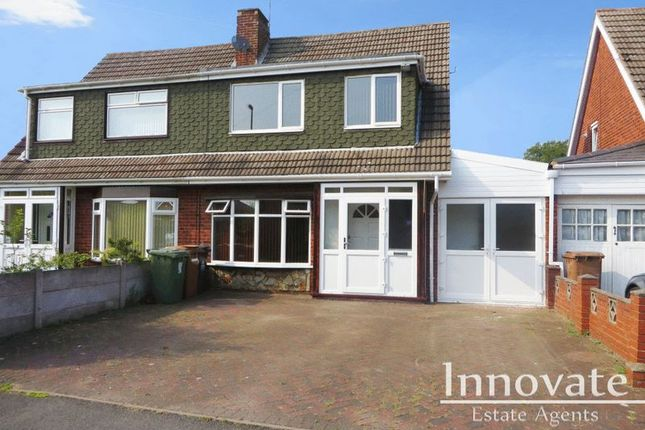 Thumbnail Semi-detached house for sale in Harlech Road, Willenhall