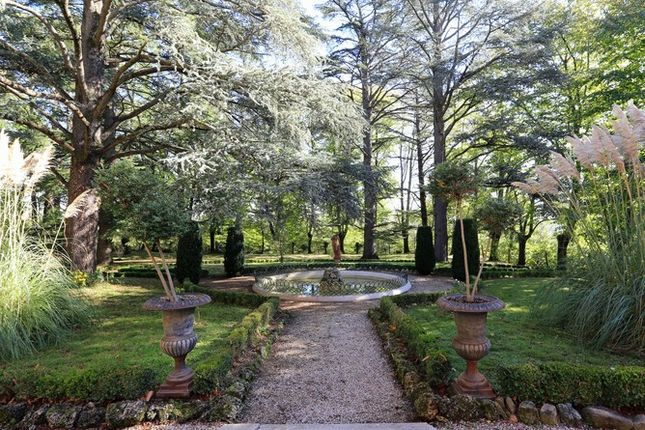 Formal Garden And Pond