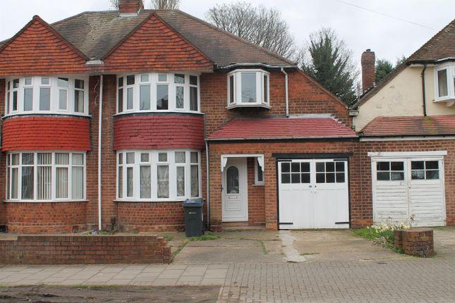 3 bed semi-detached house for sale in Grestone Avenue, Handsworth Wood, Birmingham