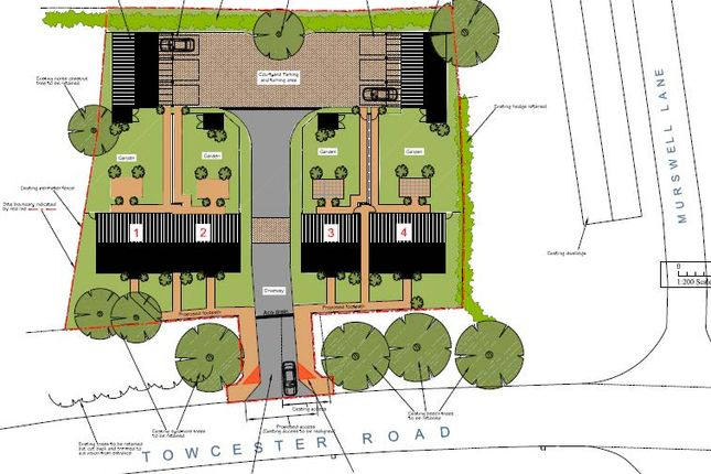Thumbnail Land for sale in Murswell Close, Silverstone, Towcester