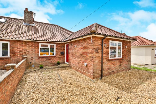 Thumbnail Semi-detached bungalow for sale in Jerningham Road, New Costessey, Norwich
