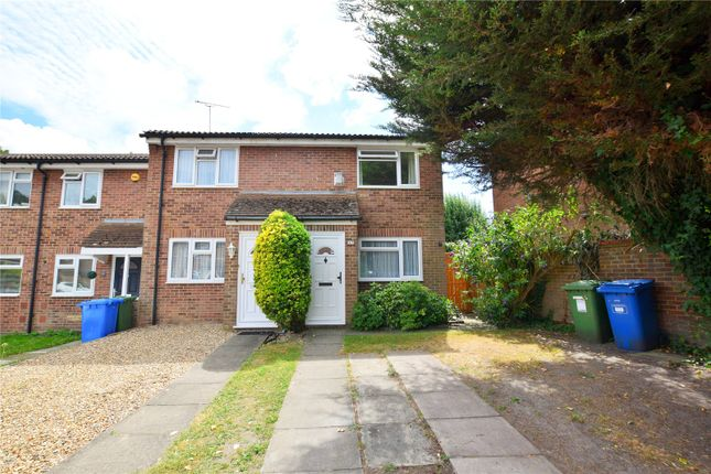 Thumbnail End terrace house to rent in Hornbeam Close, Owlsmoor, Sandhurst, Berkshire