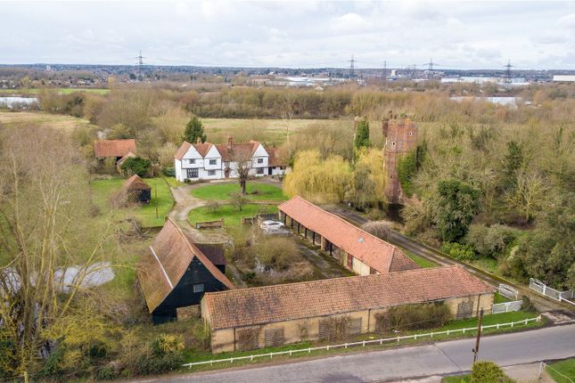 Aerial Shot of Netherhall Road, Roydon, Harlow, Essex CM19