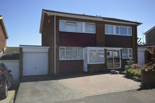 Thumbnail Semi-detached house to rent in Vidgeon Avenue, Hoo, Rochester