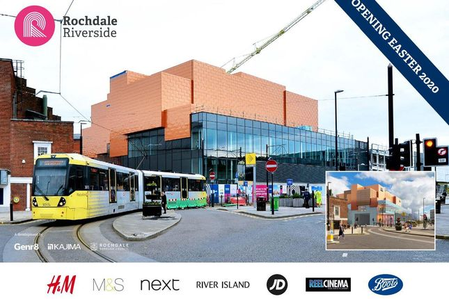 Thumbnail Commercial property to let in Rochdale Riverside Shopping Centre, Rochdale