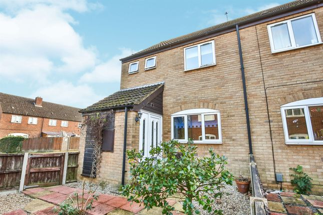 Thumbnail End terrace house for sale in Oak Close, New Costessey, Norwich