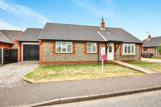 Thumbnail Detached bungalow for sale in Stevens Road, Little Snoring, Fakenham