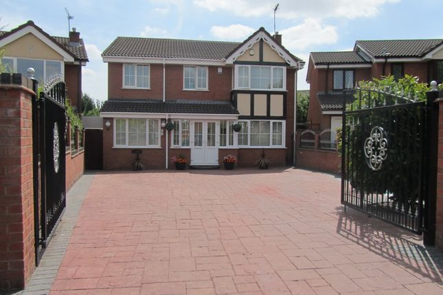 Thumbnail Detached house for sale in Tewkesbury Drive, Bedworth, Warwickshire