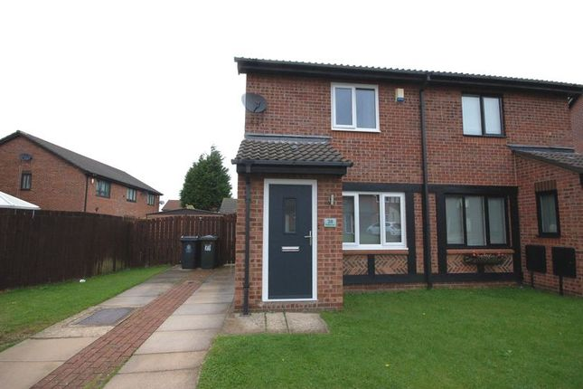 Thumbnail 2 bed semi-detached house for sale in Edgemount, Killingworth, Newcastle Upon Tyne