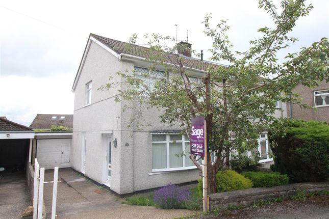 Semi-detached house for sale in Thornhill Close, Upper Cwmbran, Cwmbran