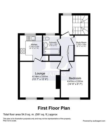 Floor Plan of Furtherfield, Cranleigh GU6