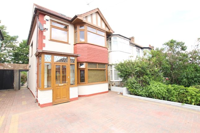 Thumbnail End terrace house for sale in The Fairway, London