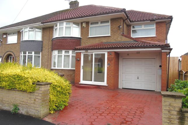 Thumbnail Semi-detached house for sale in Taunton Drive, Aintree, Liverpool