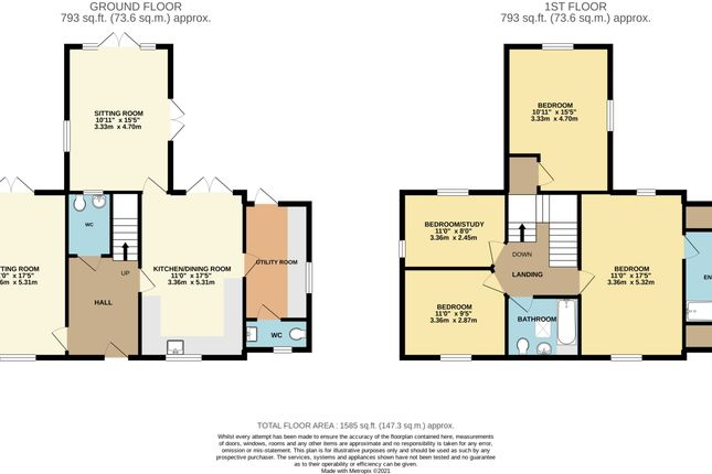 Thumbnail Detached house for sale in 3 Upton Court, Latton, Swindon