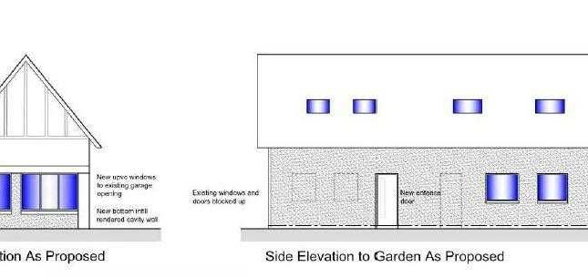 Proposed Garage Conversion With Planning Permission