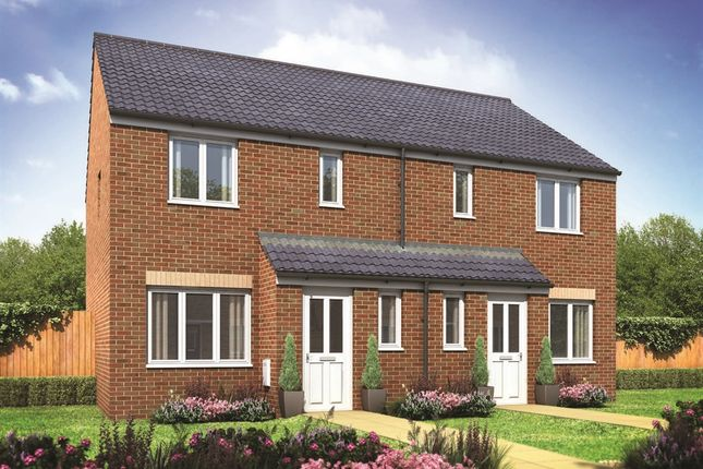 "Thumbnail Semi-detached house for sale in ""The Hanbury "" at Pendderi Road, Bynea, Llanelli"