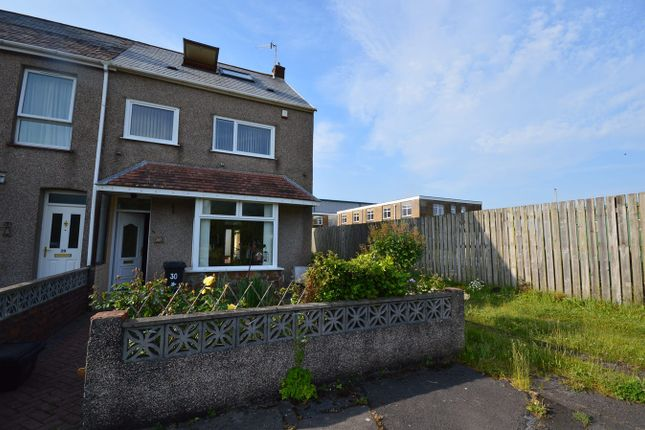 Thumbnail End terrace house to rent in Baldwins Crescent, Crymlyn Burrows, Swansea