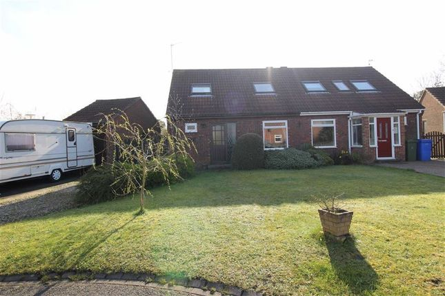 Thumbnail Semi-detached bungalow for sale in Woodkirk Close, Seghill, Cramlington
