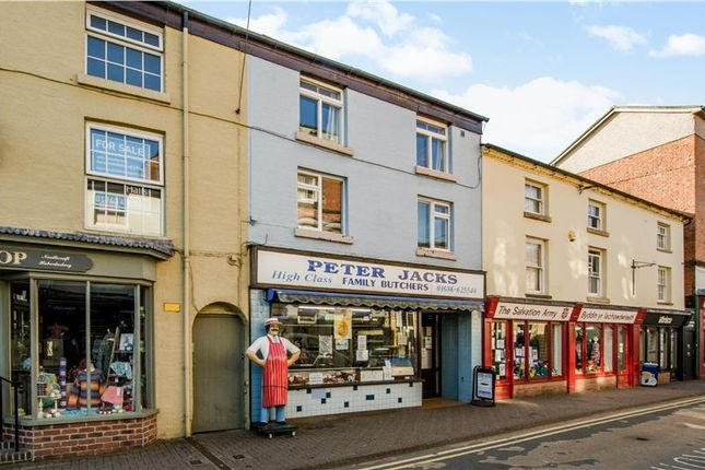 Thumbnail Retail premises for sale in Market Street, Newtown