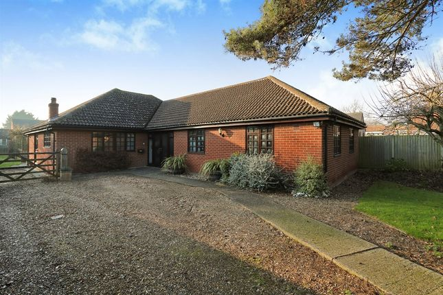 Thumbnail Detached bungalow for sale in New North Road, Attleborough