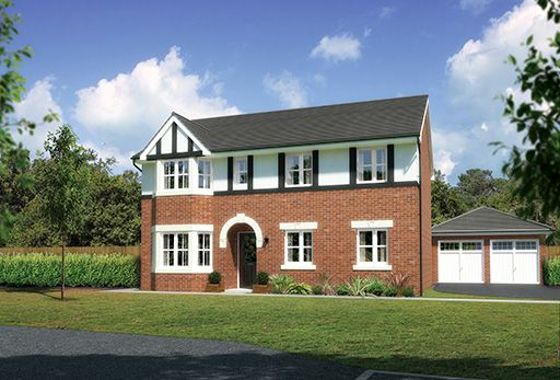 "Thumbnail Detached house for sale in ""Hollandswood"" At Sherbourne Avenue, Chester CH4, Chester,"