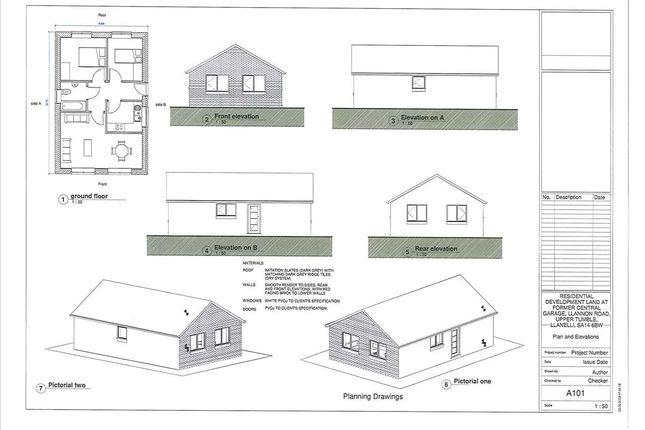 Thumbnail Detached bungalow for sale in Llannon Road, Upper Tumble, Llanelli