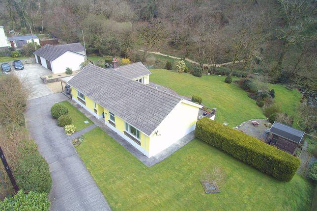 Thumbnail Detached bungalow for sale in Glenafon, Cwmduad, Carmarthen
